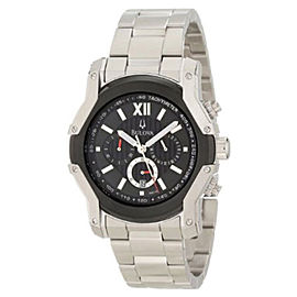 Bulova Wintermoor 98B149 Steel and Black Ion Case Mens Watch