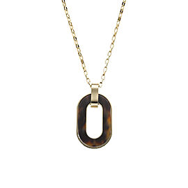 Michael Kors Gold Tone and Tortoise Acetate Necklace