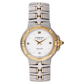 Raymond Weil 9990-IV Parsifal White Dial Two Tone Womens Watch