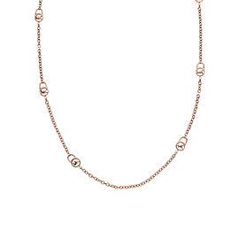 Michael Kors Rose Gold Padlock Chain Logo Necklace