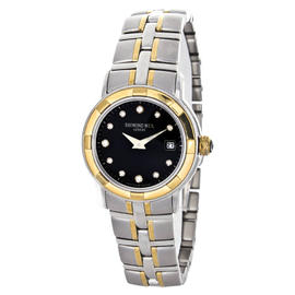 Raymond Weil 9440 Parsifal Black Dial Stainless Steel Two Tone Womens Watch
