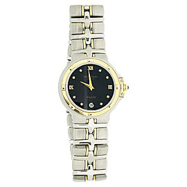 Raymond Weil 9490 Black Dial Two-Tone Stainless Steel Parsifal Womens Watch