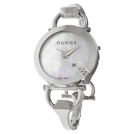 Gucci YA122505 Chiodo White MOP Dial Stainless Steel Womens Watch