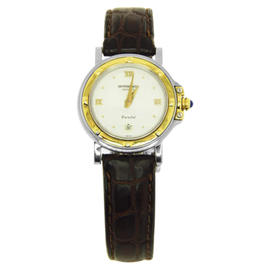 Raymond Weil 9989 Parsifal Two-tone White Dial Brown Leather Band Watch