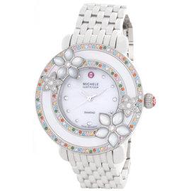 Michele MWW20A000006 Cloette Fleur Pearl Dial Stainless Steel Bracelet Watch