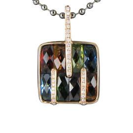 Bellarri 18K Rose Gold Diamond and Gemstones Boulevard Pendant