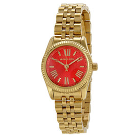 Michael Kors MK3284 Lexington Petite Orange Dial Gold Tone Women's Watch