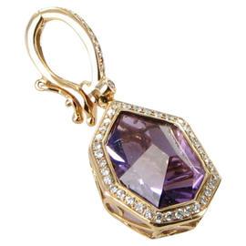 Bellarri 18K Rose Gold Diamond and Amethyst Tuscany Enhancer Pendant