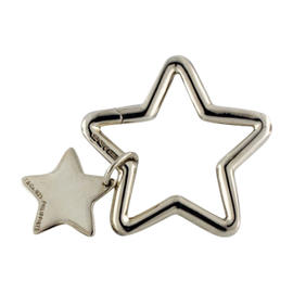 Tiffany & Co. Sterling Silver Double Star Key Fob
