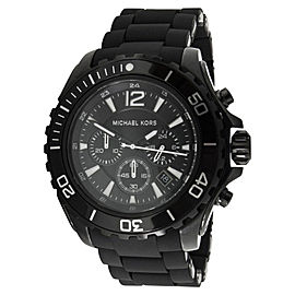 Michael Kors MK8211 Drake Black Dial Silicone Strap Chronograph Mens Watch