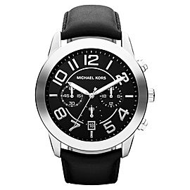 Michael Kors MK8288 Mercer Chronograph Black Dial Leather Strap Mens Watch