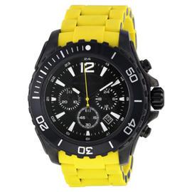 Michael Kors MK8236 Chronograph Black Dial Yellow Silicone Mens Watch