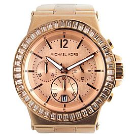 Michael Kors MK5412 Rose Gold Tone Crystals on Bezel Bracelet Women's Watch