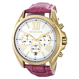 Michael Kors Bradshaw MK5743 Silver Dial Pink Leather Band Women's Watch