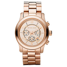 Michael Kors Runway MK8096 Chronograph Rose Gold-Tone Unisex Watch