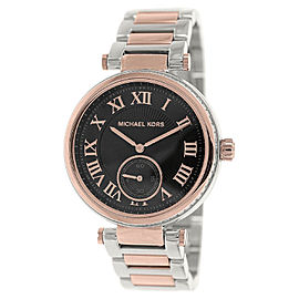 Michael Kors Skylar MK5957 Black Dial Two Tone Stainless Steel Bracelet Womens Watch