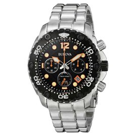 Bulova 98B244 Black Dial Stainless Steel Chronograph Men's Watch