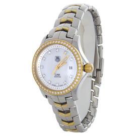 Tag Heuer WJF1354.BB0581 Link MOP Diamond Dial Stainless Steel Womens Watch