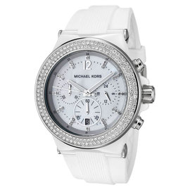 Michael Kors MK5392 Bel Aire Chronograph Ceramic Silicone Crystal Womens Watch