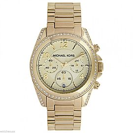 Michael Kors MK5166 Golden Runway Gold Tone Chronograph Glitz Analog Watch