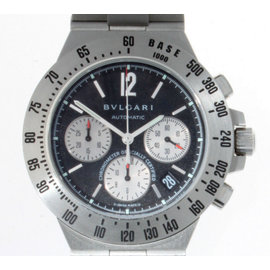 Bulgari Chronograph CH40 S Stainless Steel Automatic Diagono Terra Mens Watch
