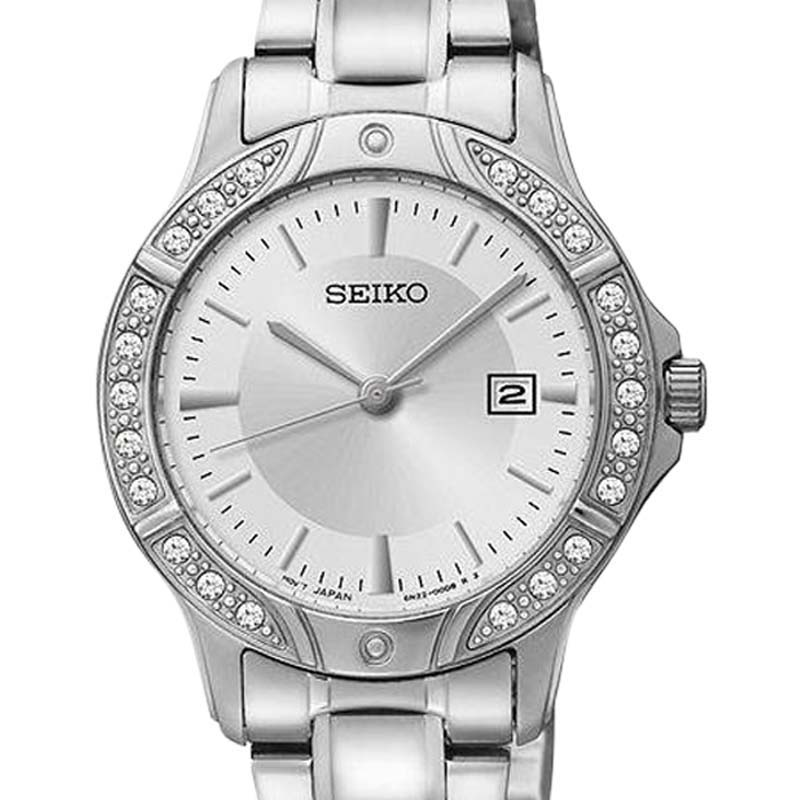 """Image of """"Seiko Sur853 Three-Hand Silver-Tone Stainless Steel Womens Watch"""""""