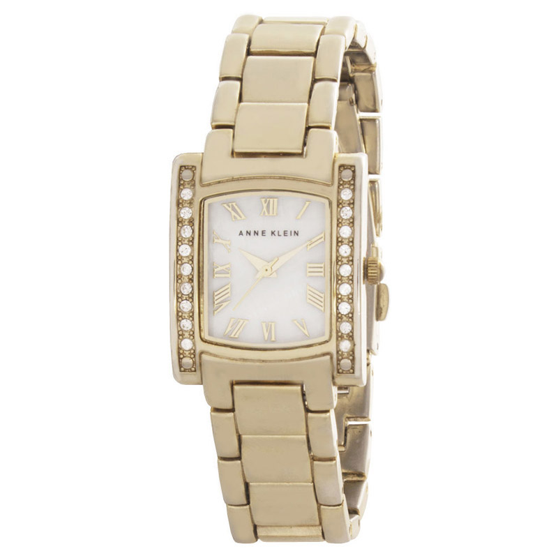 "Image of ""Anne Klein Ak/1698 Mother of Pearl Dial Gold Tone Metal Bracelet"""