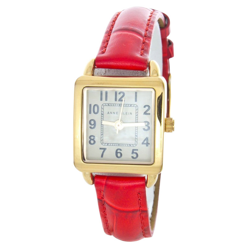 "Image of ""Anne Klein AK-1152-a Stainless Steel & Leather 21mm Watch"""