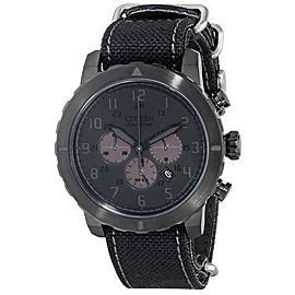 Citizen CA4098-06E Eco Drive Black Dial Nylon Strap Chronograph Men's Watch
