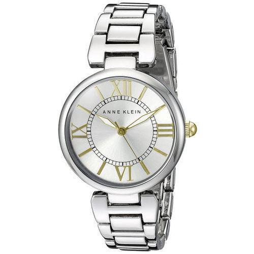 "Image of ""Anne Klein Ak/1875Svtt Silver Dial Metal Bracelet Womens Watch"""