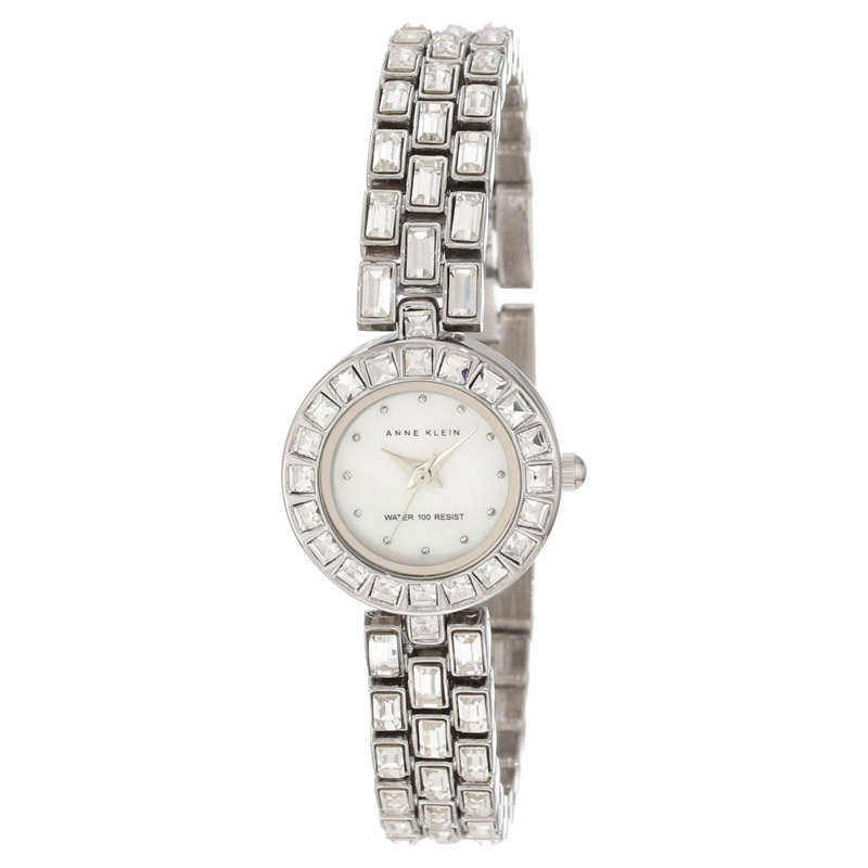 """Image of """"Anne Klein Ak/1031Mpsv Mother of Pearl Dial Stainless Steel Women's"""""""