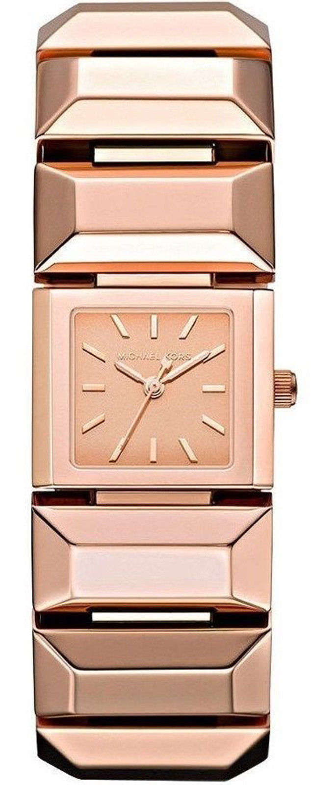 """Image of """"Michael Kors Mk3165 Rose Gold Dial Rose Gold Stainless Steel Womens"""""""