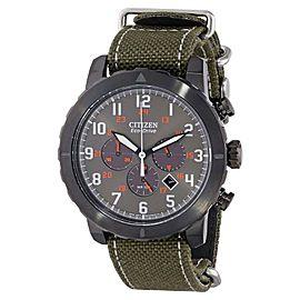 Citizen CA4098-14H Military Grey Dial Nylon Strap Chronograph 45 mm Watch