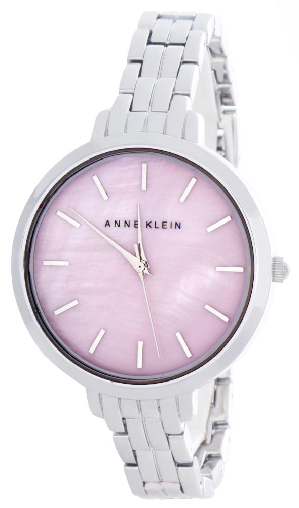 "Image of ""Anne Klein Ak/2071Pkmp Pink Pearl Dial Metal Bracelet Womens Watch"""