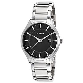 Bulova 96B184 Bracelet Black Dial Stainless Steel Mens Watch