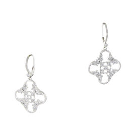 Leslie Greene 18K White Gold 0.32ct Diamonds Drops Earrings