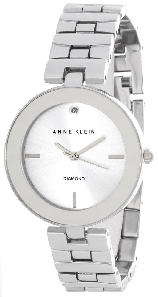 "Image of ""Anne Klein Ak/2077Svsv Silver Dial Metal Bracelet Womens Watch"""