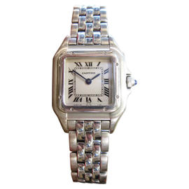 Cartier Panthere Stainless Steel Roman Numeral Womens Watch