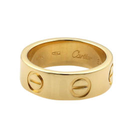 Cartier Love 18K Yellow Gold Band Ring Size 3.75