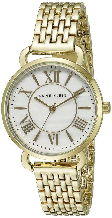 "Image of ""Anne Klein Ak/1876Mpgb Pearl Dial Gold Tone Metal Bracelet 32mm Watch"""