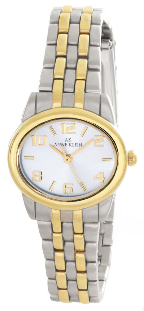 "Image of ""Anne Klein 10/5747 Silver & Gold Tone Metal 28mm Watch"""