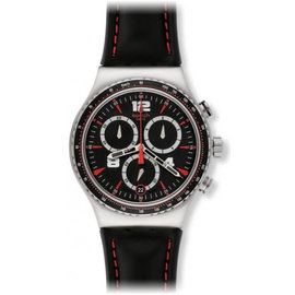 Swatch Pudong YVS404 Black Dial Chronograph 43mm Watch