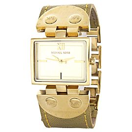 Michael Kors MK2365 Gold-Tone Stainless Steel & Leather 27mm Watch