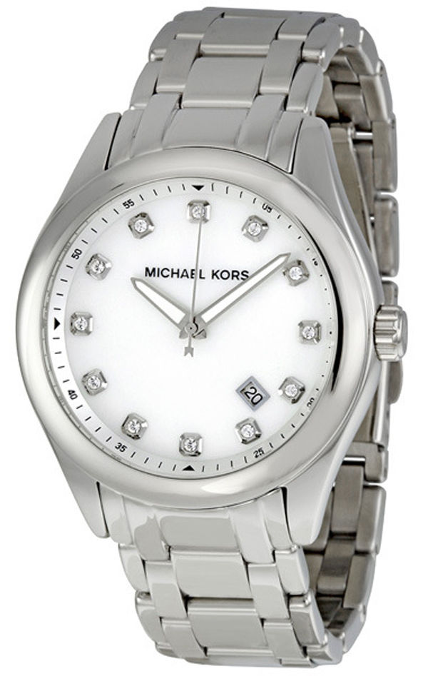 """Image of """"Michael Kors Mk5325 Mother of Pearl Dial Stainless Steel 38mm Watch"""""""