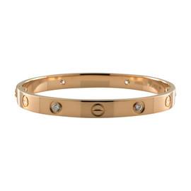 Cartier Love 18k Rose Gold Diamond Size 16 Bangle Bracelet