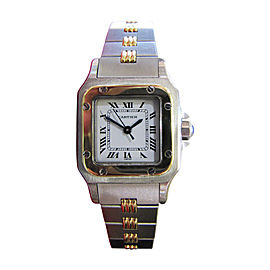 Cartier Santos Galbee Stainless Steel & 18K Yellow Gold Date Automatic Unisex Watch