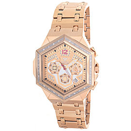 Aqua Master W#356_8 Rose Gold Tone Dial Rose Gold Tone Stainless Steel Diamond Mens Watch