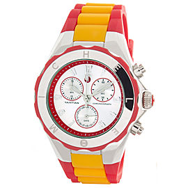 Michele Jelly Bean MWW12F000067 Tahitian Silver Dial Red & Orange Womens Watch
