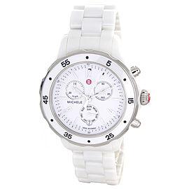 Michele MWW17J000001 White Dial White Ceramic Case and Bracelet Women's Watch