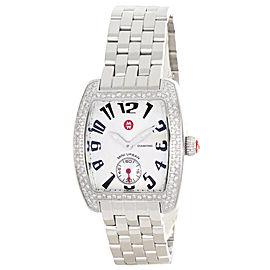Michele Mini Urban MW02A01A2927 Diamond Silver Dial Stainless Steel Bracelet Womens Watch